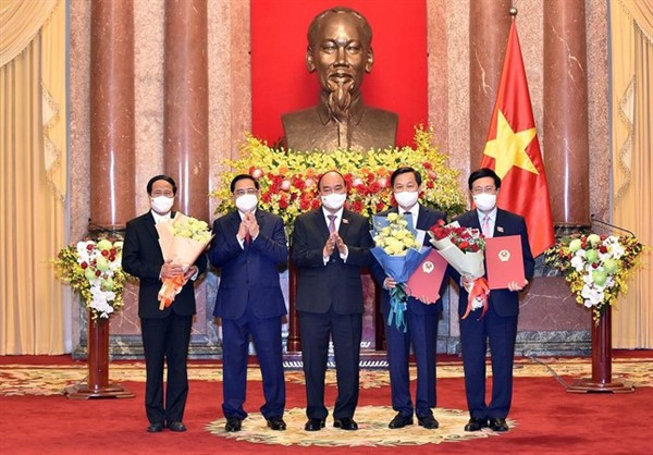 Chủ tịch nước trao quyết định bổ nhiệm cho các Phó thủ tướng, Bộ trưởng nhiệm kỳ 2021- 2026