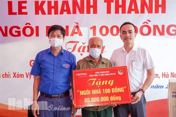 """Viettel Hà Nam khánh thành """"Ngôi nhà 100 đồng"""" tặng gia đình khó khăn tại xã Liêm Túc"""